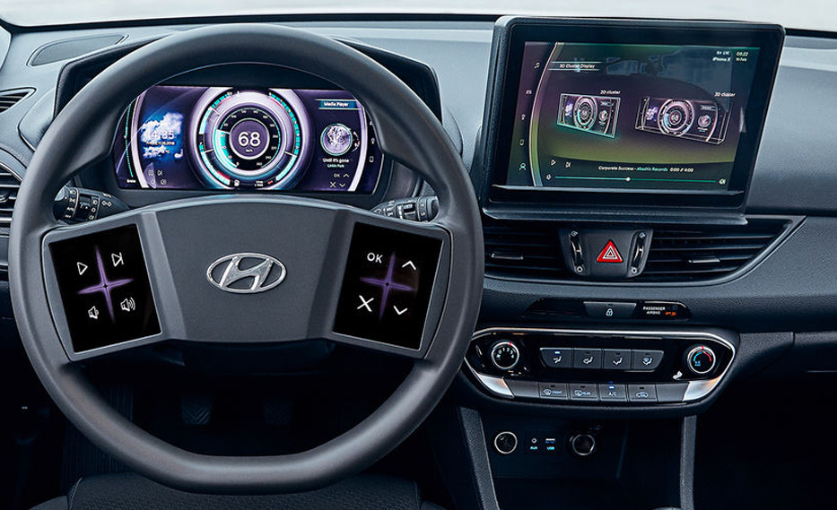 Hyundai Virtual Cockpit Concept Offers Touchscreen For Safe Driving