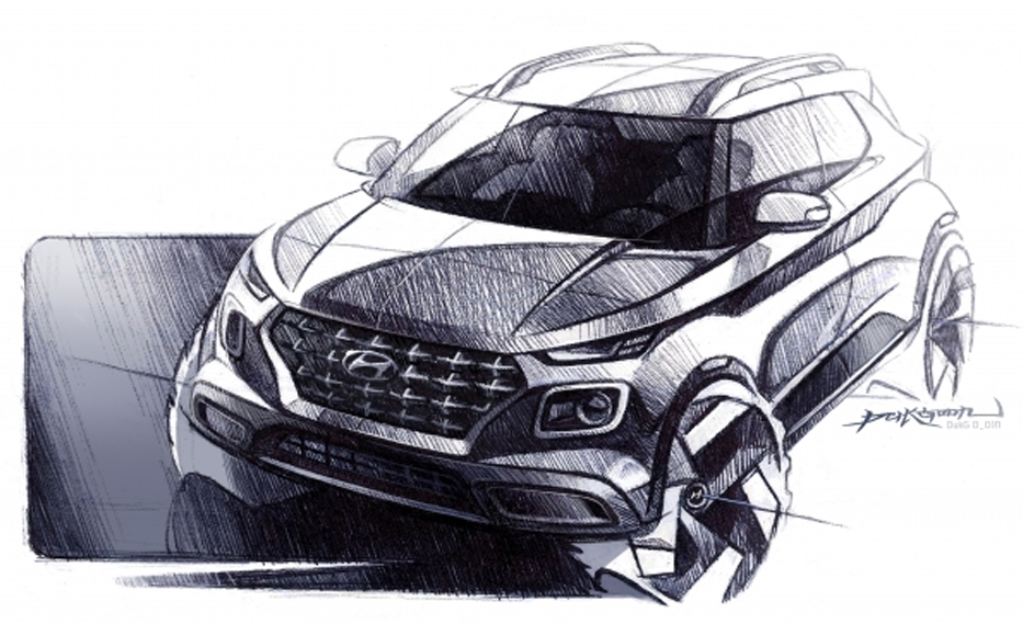 Hyundai Venue Design Sketches