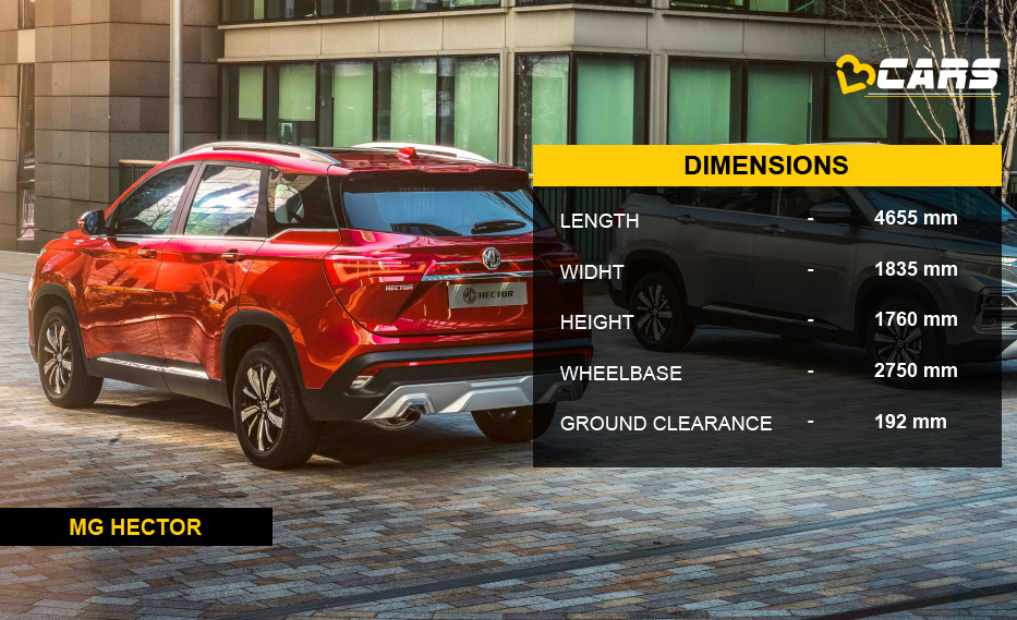 MG Hector Dimensions