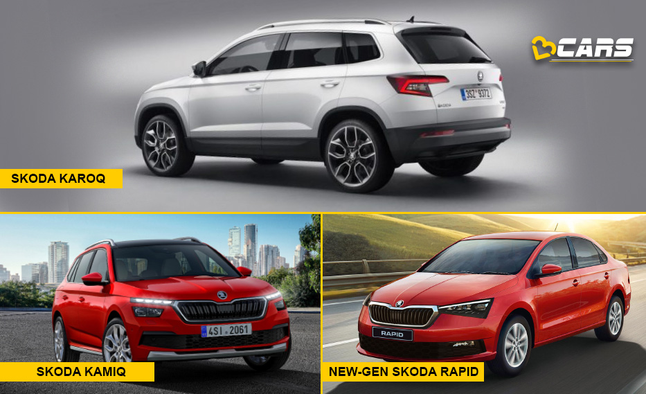 Skoda India upcoming Cars Karoq, Kamiq, Rapid