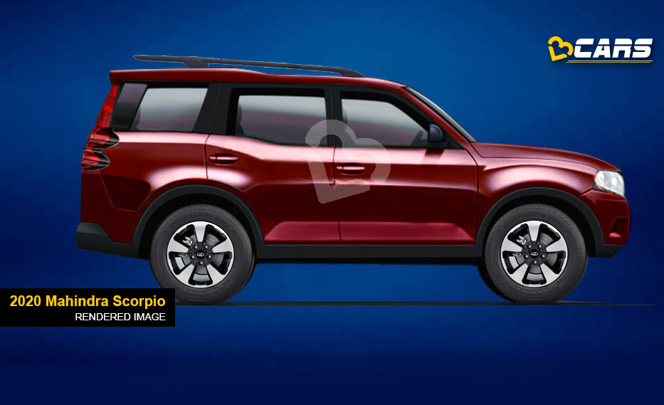 Next-Gen Mahindra Scorpio 2020 rendered image