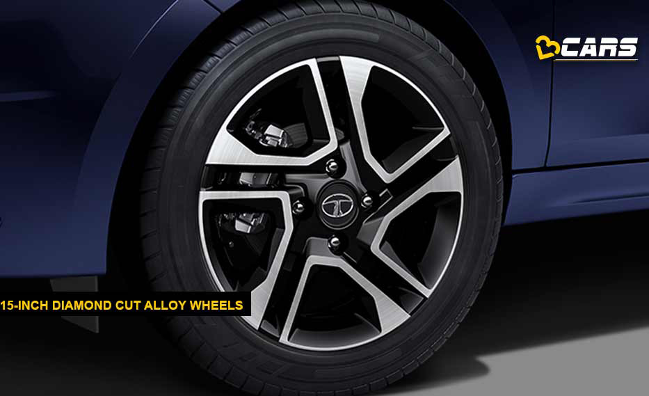 Tata Tigor AMT Diamond Cut Alloy Wheels