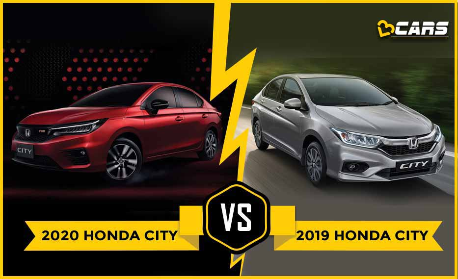 Honda City 2020 vs Honda City 2019