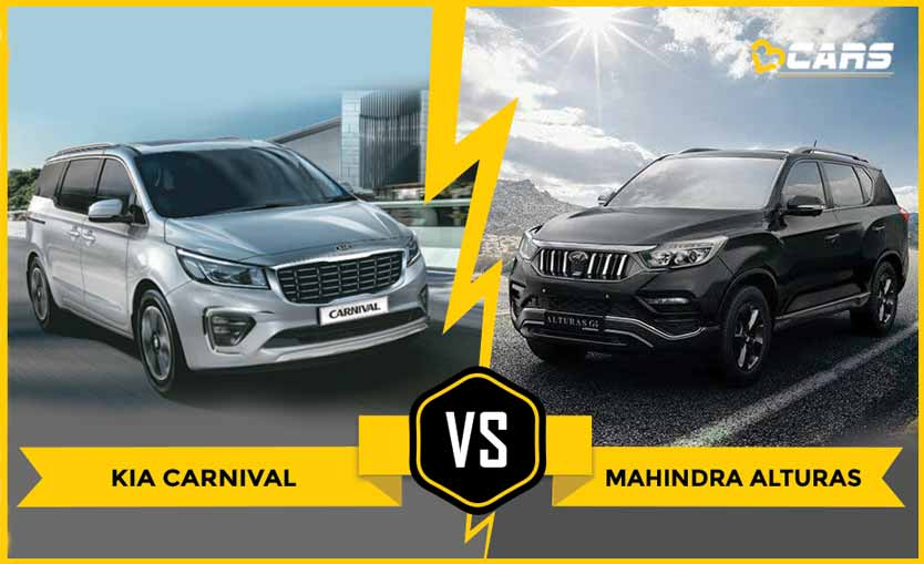 Kia Carnival vs Mahindra Alturas Dimensions Comparison