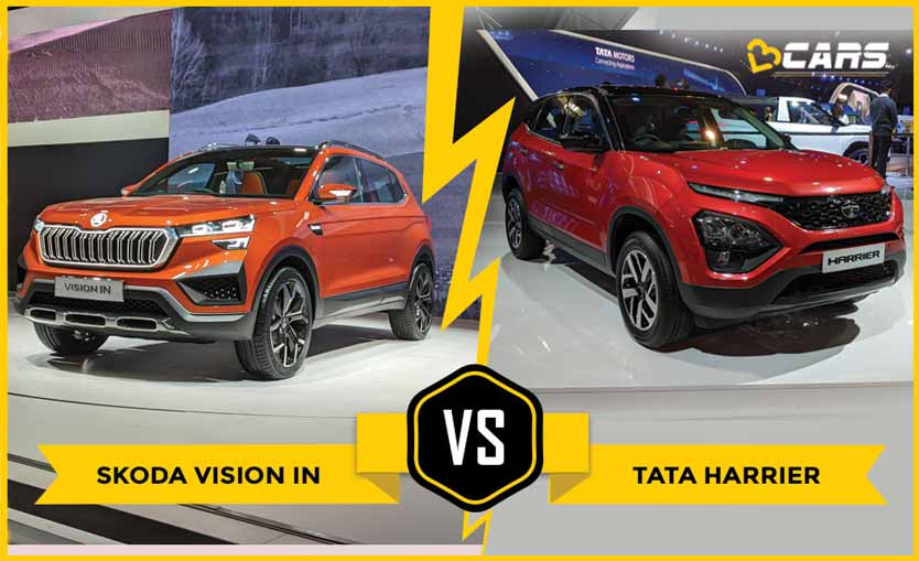 Skoda Vision IN vs Tata Harrier