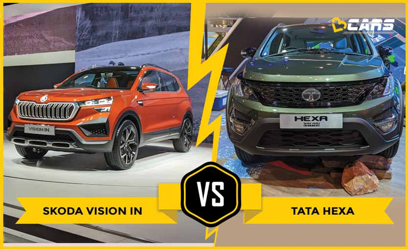 Skoda Vision IN vs Tata Hexa