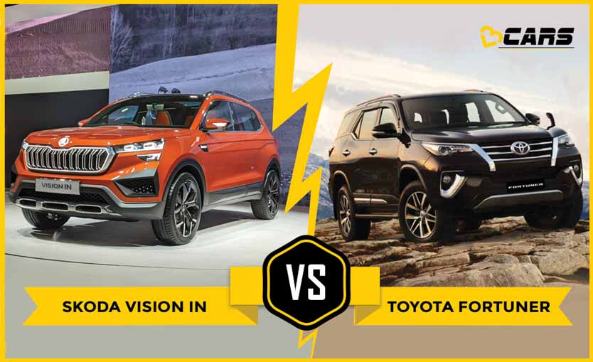 Skoda Vision IN vs Toyota Fortuner