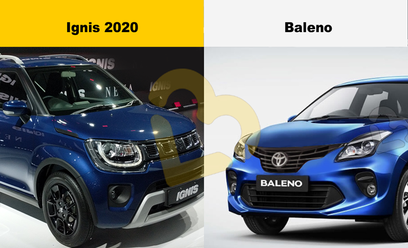 Ignis facelift vs Baleno price comparison