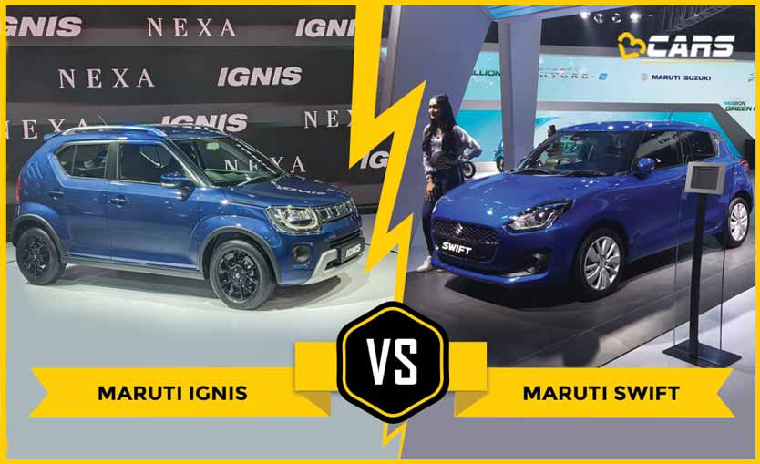 Maruti Ignis Facelift vs Swift