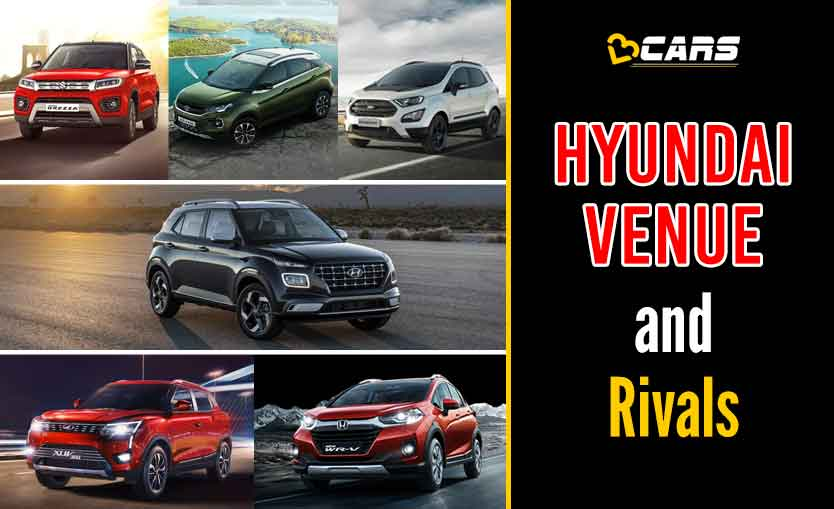 Hyundai Venue 2020 Petrol vs Competition