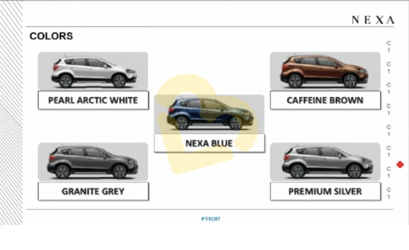 Maruti S-Cross Petrol Colour Options