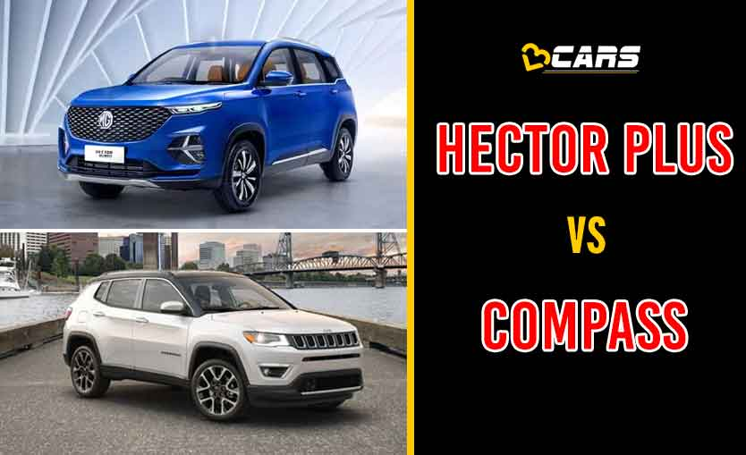 2020 MG Hector Plus vs Jeep Compass