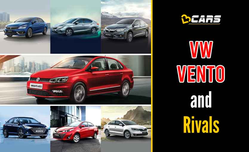 Volkswagen Vento 2020 Petrol vs Competition