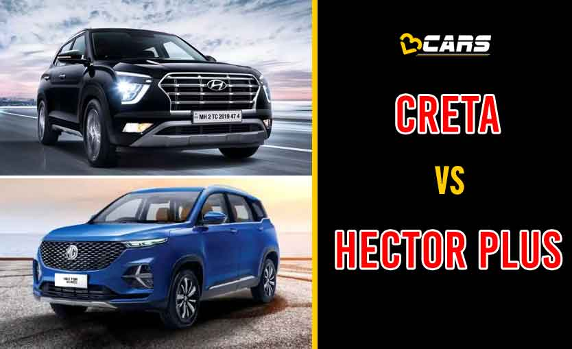 2020 Hyundai Creta vs MG Hector Plus