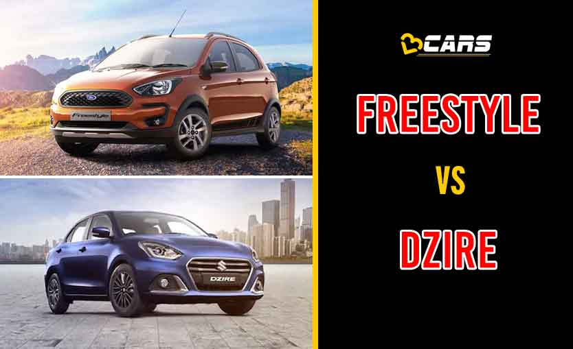 2020 Ford Freestyle vs Maruti Suzuki Dzire