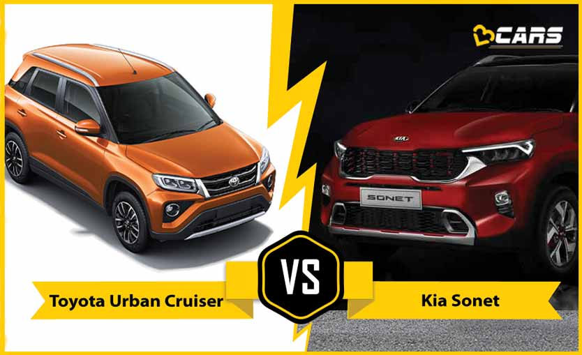 2020 Kia Sonet vs Toyota Urban Cruiser