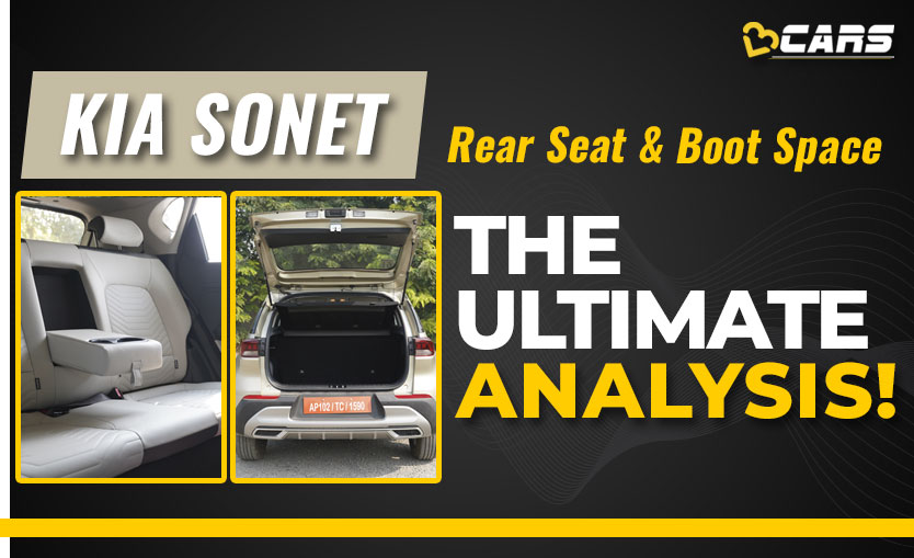Kia Sonet Rear Seat & Boot Space